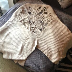 Free People Sweaters - Tan, knitted poncho